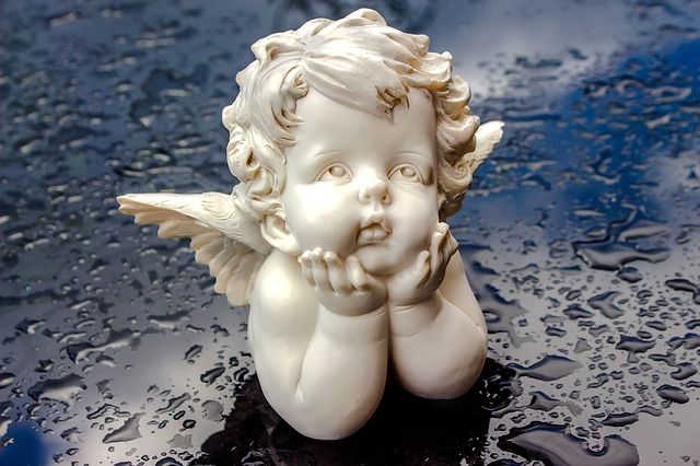 angel in water drops